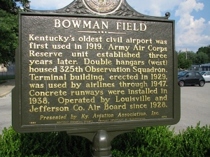 Bowman Field Historic Marker (photo credit: WikiWings)