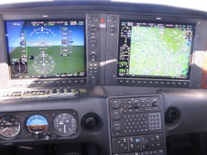 Flying the step Cirrus SR22TN, FL17.5, TAS 189 kts., GS 194 kts, credit wikiWings